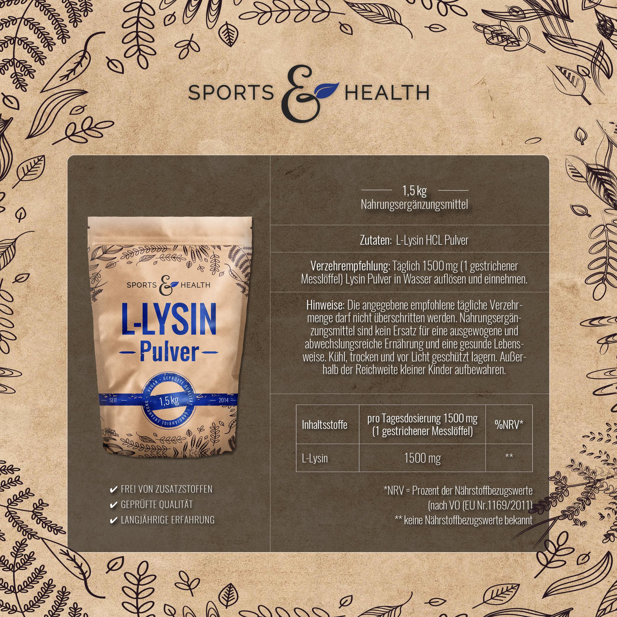 Lysin Pulver Inhalt
